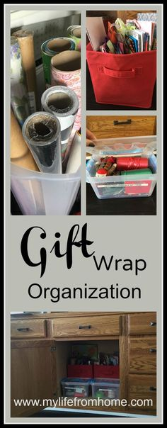 Gift Wrap Organization | My Life From Home | www.mylifefromhome.com