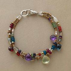 """SAMBA BRACELET/ This is a """"funfetti"""" type of bracelet. It goes with everything and you can use up your leftover beads to make this."""
