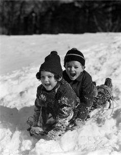 Snow sledding vintage Stock Photos - Page 1 : Masterfile Winter Scenery, Winter Fun, Antique Photos, Vintage Photos, Dark Tales, New England Day Trips, Snow Sled, Fresh Farmhouse, Vintage Winter