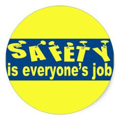 SAFETY is Everyone's Job Round Sticker  $5.75----- stanrail/zazzle ===== SOLD=====
