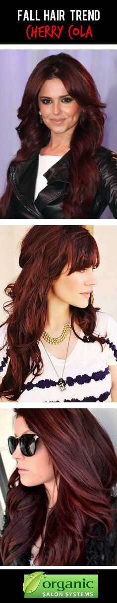 Fall Hair Trend #2: Cherry Cola Red Hair Color!