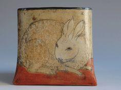 Rabbit wall pocket by margaretwozniak on Etsy
