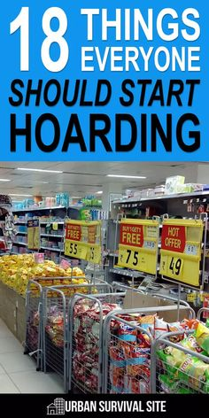 18 Things Everyone Should Start Hoarding There are countless ordinary items that are relatively cheap and can be used for survival. The wisest among us are already stockpiling them. Emergency Preparedness Food, Emergency Food Storage, Emergency Preparation, Survival Prepping, Survival Skills, Survival Gear, Survival Items, Survival Food List, Emergency Food Supply