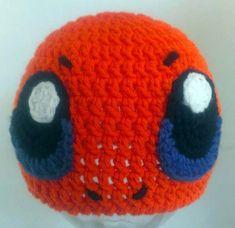 Charmander Pokemon Inspired Crochet Beanie Earflap Hat Pattern ALL sizes Infant Baby Child Youth Tee Pokemon Crochet Pattern, Pikachu Crochet, Crochet Headband Pattern, Crochet Cap, Love Crochet, Double Crochet, Crochet Patterns, Crochet Ideas, Diy Crochet