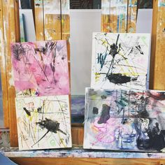 The start of something (layers)   Paintings by Mia Hinchey
