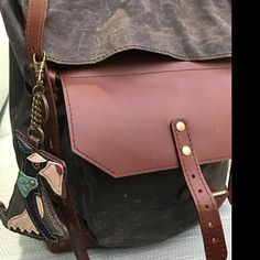 Travel waterproof rolltop backpack, Waxed canvas and leather. Waxed Canvas Bag, Canvas Backpack, Laptop Backpack, Canvas Leather, Travel Backpack, Travel Bags, Crazy Horse, Leather Crossbody Bag, Leather Backpack
