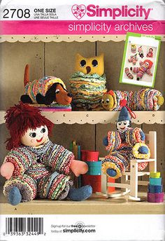 Simplicity Pattern 2708 for Fabric Yo Yo Toys by clevercrafting, $3.75