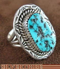 Native American Indian Sleeping Beauty Turquoise Ring from SilverTribe.