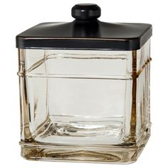Target - Threshold™ Antique Glass Bath Canister - Gray - $12.99