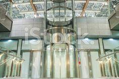Modern Illuminated Exterior Elevator royalty-free stock photo