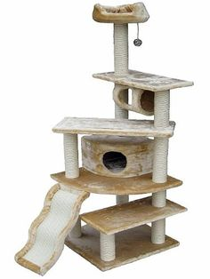 Go Pet Club Cat Tree Beige Color ** You can get more details by clicking on the image. #CatsBedsFurniture