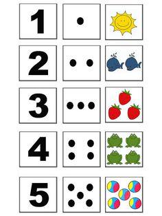 Počty - Sisa Stipa - Picasa Web Albums Kindergarten Math Worksheets, Preschool Learning Activities, Preschool Activities, Teaching Kids, Kids Learning, Maths, Teaching Numbers, Numbers Preschool, Childhood Education