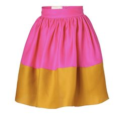 Pin for Later: Celebrity-Approved Ways to Master Your Winter Wedding Guest Outfit The Full Skirt Roksanda Ilincic Hot Pink and Mustard Silk Organza Skirt (£619)