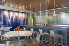 meadwestvaco-office-design-11   great use of water patterned wall to create fluidity and tranqility in the room