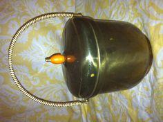 Vintage hollywood regency art deco solid brass ice bucket