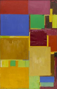 "Hans Hofmann. Cathedral. 1959 Cathedral  Date:     1959 Medium:     Oil on canvas Dimensions:     6' 2"" x 48"" (188 x 122 cm) MoMA, NY"