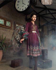 bdee5ae331 Maria B Linen Dresses - Embroidered Printed Dupatta - Replica - Unstitched