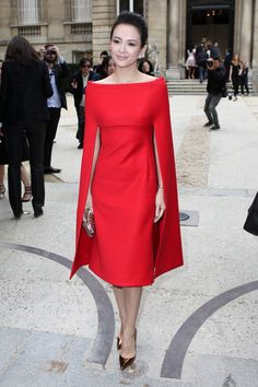 Zhang Ziyi ,in Valentino, attends Valentino Haute Couture Fall-Winter 2013-2014 fashion show in Paris