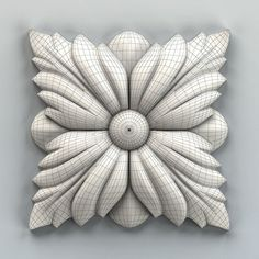 model Square rosette 004 rosette square molding, available in MAX, OBJ, STL, ready for animation and other projects Wood Rosettes, Trophy Design, 3d Cnc, Clay Art Projects, Wood Carving Designs, Felt Decorations, Ornaments Design, Ceiling Design, Wood Art