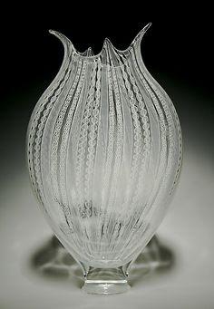 Zanfirico Foglio: David Patchen: Art Glass Vessel | Artful Home. $3200