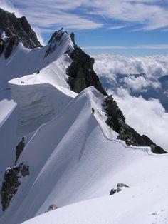 harvestheart:    Rochefort Ridge, Mt. Blanc, Italy