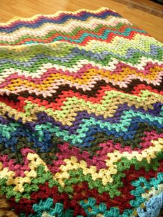Granny ripples blanket - Ravelry