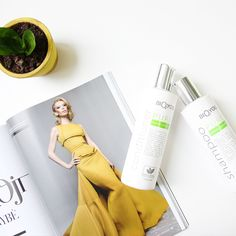 Have you ever heard about natural cosmetics? We're totally in love with it! Summer Set, Natural Cosmetics, Hair Care, Shampoo, Conditioner, Plant, Pure Products, Yellow, Green