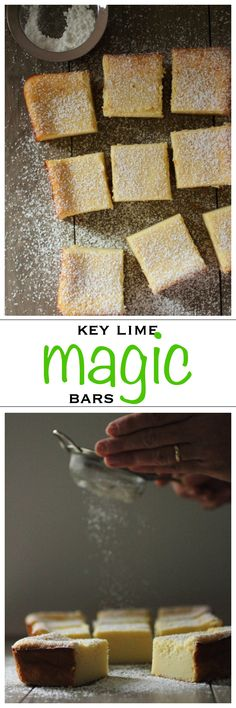 Amazing key lime magic cake bars | Foodness Gracious