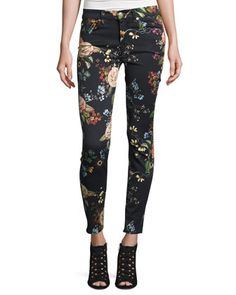 The+Ankle+Skinny+Floral-Print+Jeans,+English+Botanical+by+7+For+All+Mankind+at+Neiman+Marcus.