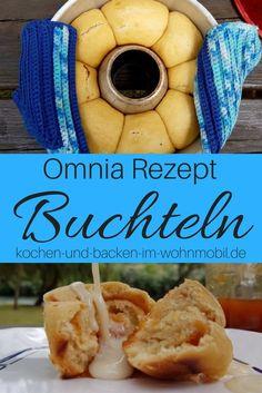 Omnia Backofen: Buchteln, gefüllt mit Aprikosenmarmelade... Ganz einfach im Wohnmobil backen!