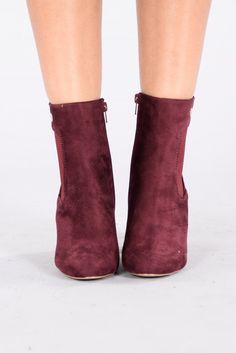 15566db354e Nothin But A Friend Boot - Wine Bootie Boots