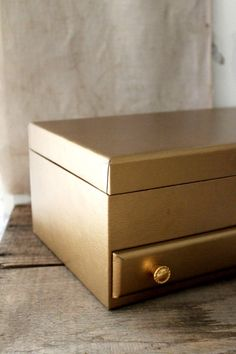 Red Jewelry Box with Gold Trim Vintage and Wonderful Vintage