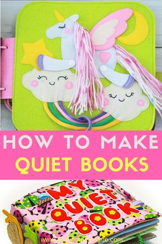 What is a Quiet Book? What does a quiet book consists of? How to make a quiet book with different materials and dimensions. Ample examples to show you how to DIY your own Quiet Books. Quiet Book Templates, Quiet Book Patterns, Diy Quiet Books, Felt Quiet Books, Craft Books, Children's Books, Do It Yourself Organization, Sensory Book, Baby Sensory