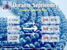 ¡Aprovecha nuestra Gran Promoción! Durante todo Septiembre en www.Chandra.com.mx tendremos el 50% de descuento en todos los envíos.  ¡Haz tu pedido ahora! :D   *Compras mínimas de $1000. Whatsapp:(521)33.1489.1610