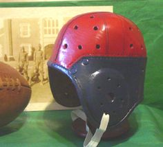 Old Penn Style leather football helmet