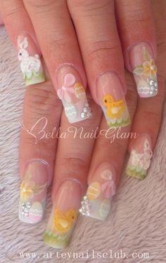 Easter Time is Here by BellaNailGlam - Nail Art Gallery nailartgallery.nailsmag.com by Nails Magazine www.nailsmag.com #nailart