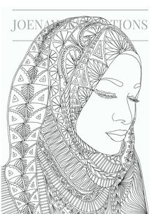 Adults Coloring Book, Printable Coloring Pages, Coloring Pages, Coloring Book for Adults, Instant Download, Faces of the World1 page 7
