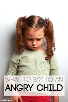 Phrases you can say when your kid is angry or in the middle of a meltdown. Love the free cheat sheet for parents!
