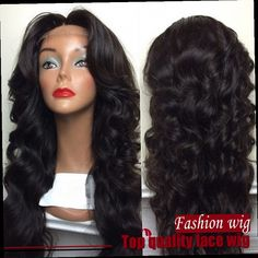 42.00$  Watch here - http://aliggo.worldwells.pw/go.php?t=32445374587 - Fashion Beauty Female Natural Wave Natural Black Heat Resistant Hair Synthetic Lace Front Wigs With Baby Hair Free Shipping