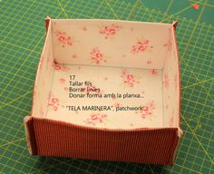 """""""TELA MARINERA"""", patchwork ...: TUTORIAL CISTELLA """"Tela marinera"""", patchwork... Charm Pack, Learn To Sew, Clean House, Diy Tutorial, Decorative Boxes, Patches, Container, Sewing, Creative"""