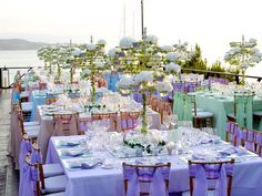 An amazing event by the sea, organised and decorated by MELI Parties...