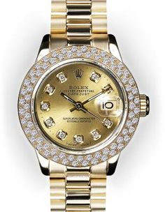 ♛ Rolex 18k Gold / Diamonds ♛ Jewels and watches studio 2thepoint Www.kapsalon2thepoint.nl