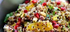 Γιορτινή σαλάτα με κινόα Grains, Salads, Rice, Recipes, Kitchen Stuff, Christmas, Food, Xmas, Essen