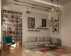 Aleksandar Brankovic on Behance Interior Architecture, Bookcase, Divider, Behance, Shelves, Room, Furniture, Home Decor, Architecture Interior Design