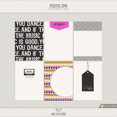 Positive Spin Printable Journaling Cards | One Little Bird