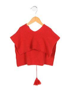 Hermès Girls' Cashmere Hooded Poncho