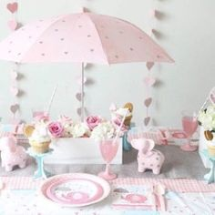 are sharing our sweet elephant themed baby shower over on Oriental Trading today! Baby Shower Sweets, Baby Girl Shower Themes, Baby Shower Table, Baby Shower Fun, Fun Baby, Elephant Theme, Elephant Baby Showers, Colorful Baby Showers, Diy Baby Shower Centerpieces