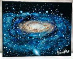 Galaxy Painting Andromeda E Art Deep Canvas