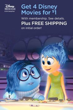 Grow your Disney movie collection with Disney DVDs, Blu-ray & Digital Code movies for the whole family. Joy Inside Out, Movie Inside Out, Disney Inside Out, Disney Movies On Dvd, Disney Movie Club, Disney Movie Collection, Code Movie, Joy And Sadness, Movies