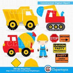"Construction Digital Clipart : ""CONSTRUCTION Clipart"", Trucks ClipArt, Dump…"